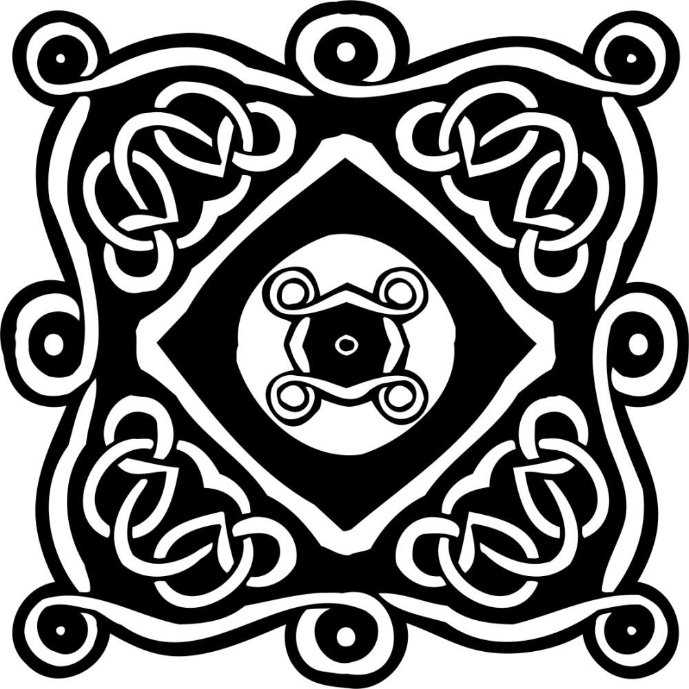 黑白花纹贴图素材