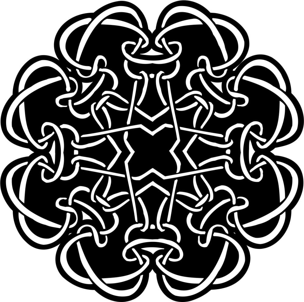 黑白花纹贴图素材ai-(图片编号:198117)-设计宝