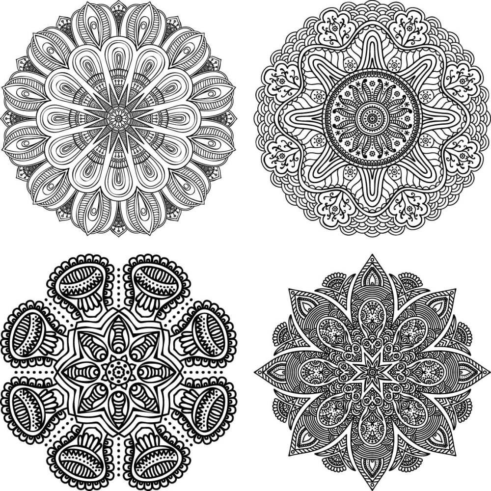 黑白花纹贴图素材eps-(图片编号:1989)-设计宝