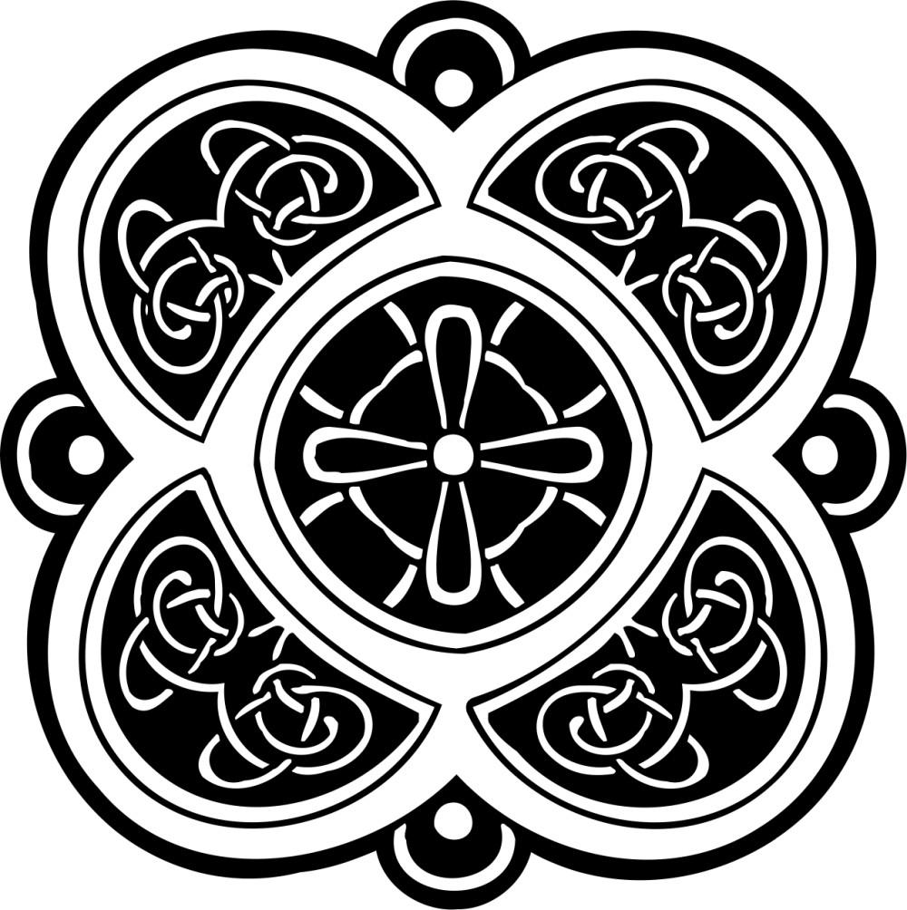 黑白花纹贴图素材ai-(图片编号:19887)-设计宝