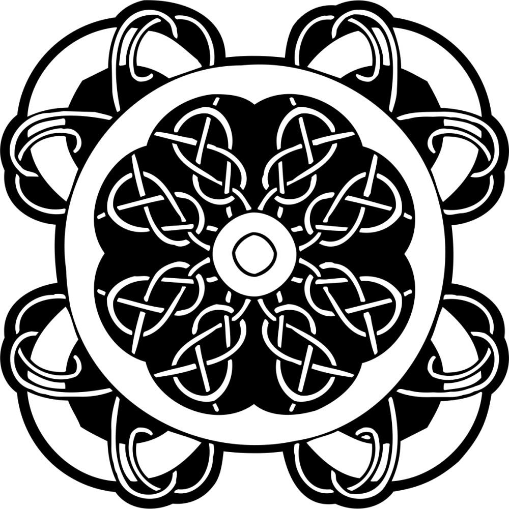 黑白花纹贴图素材ai-(图片编号:19847)-设计宝