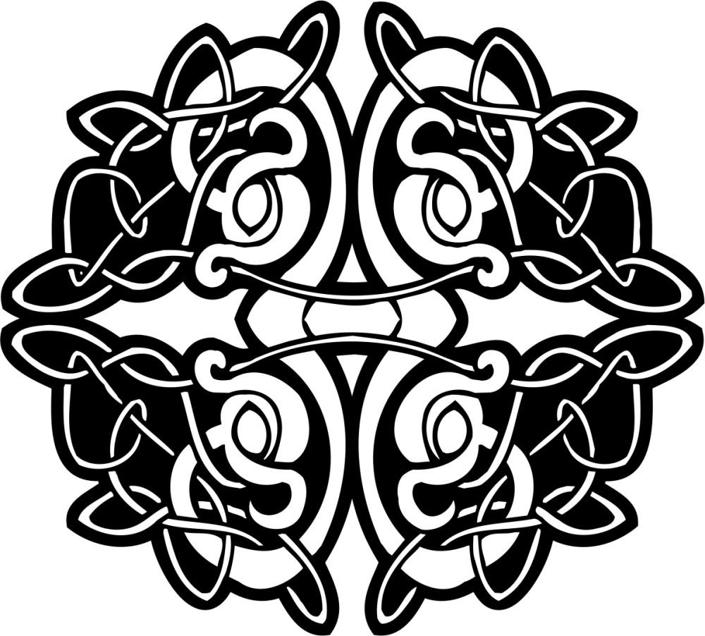 黑白花纹贴图素材ai-(图片编号:19841)-设计宝