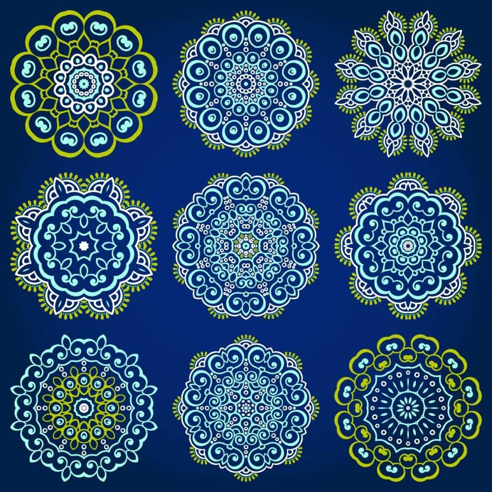 圆形花纹素材