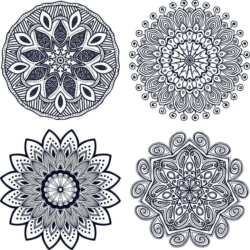 平面/广告 图形图案纹样 图案素材 黑白花纹贴图素材