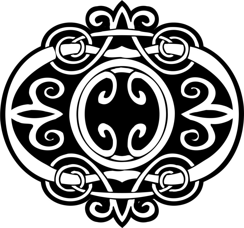 黑白花纹贴图素材ai-(图片编号:19883)-设计宝