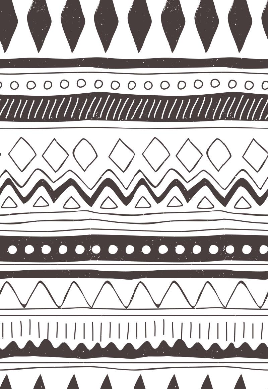名族风花纹背景  插画背景底纹素材免费下载 插画素材免费下载 黑白