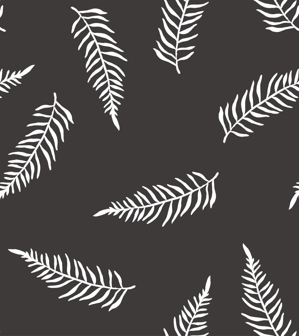 黑白树叶背景插画背景底纹