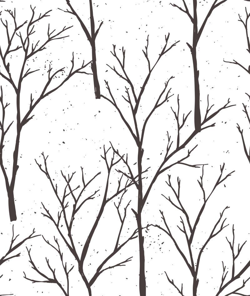 黑白插画背景底纹