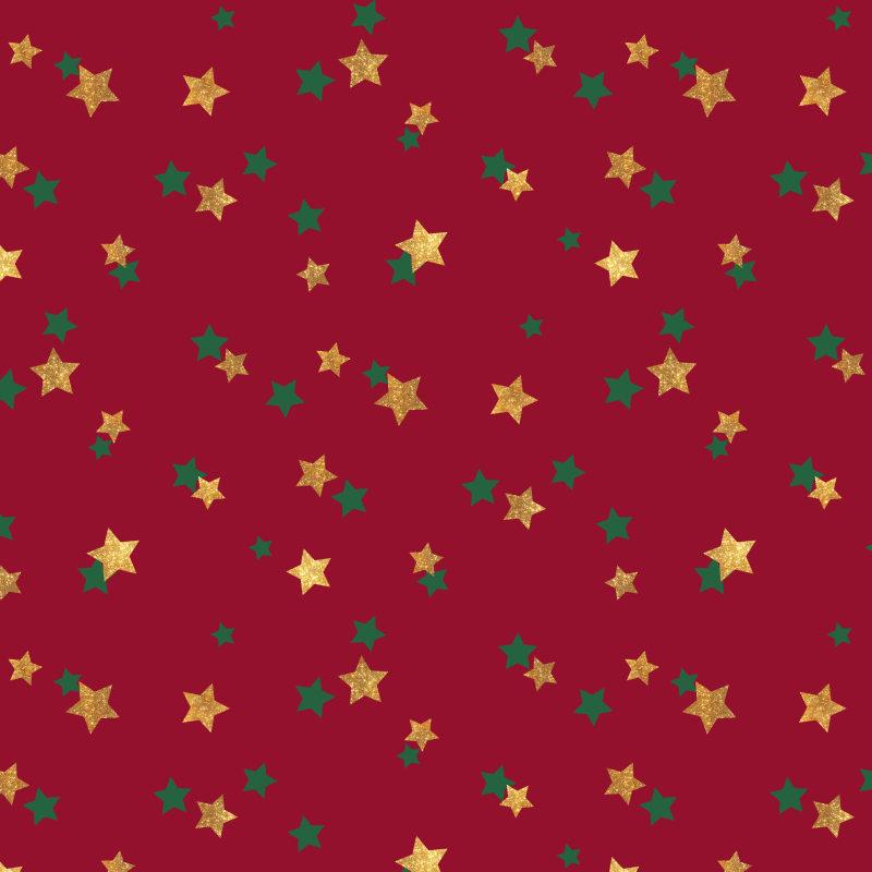 圣诞节五角星碎花背景底纹素材