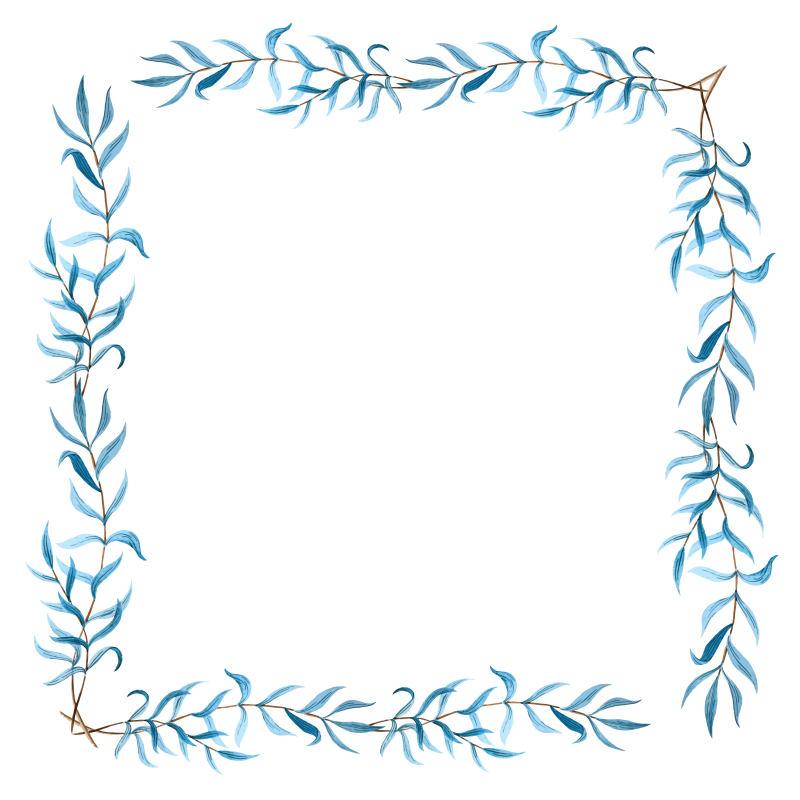 免费下载单个花圈花环边框边框矢量图花卉边框边框矢量图橄榄枝边框
