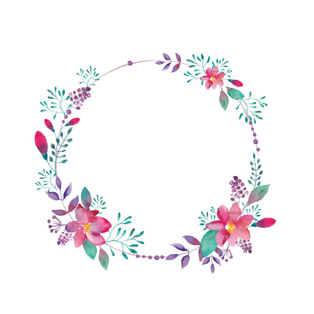 平面/广告 图形图案纹样 边框素材 单个花圈花环边框  搜索