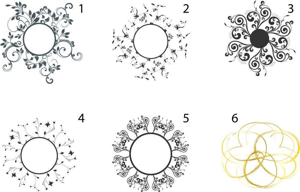 婚礼花圈简笔画