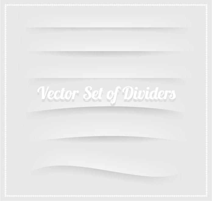 纸质白色边框分割线素材eps-(图片编号:20512)-设计宝