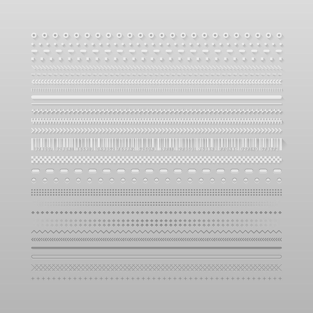 纸质白色边框素材