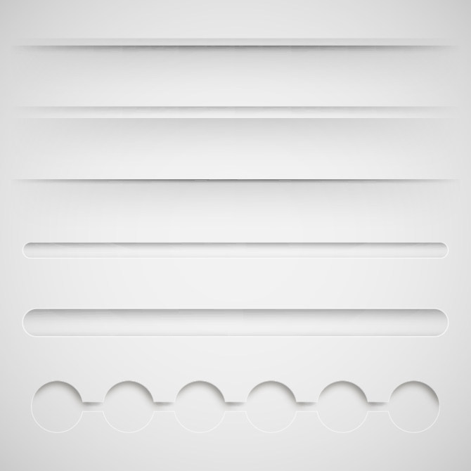 纸质白色边框分割线素材