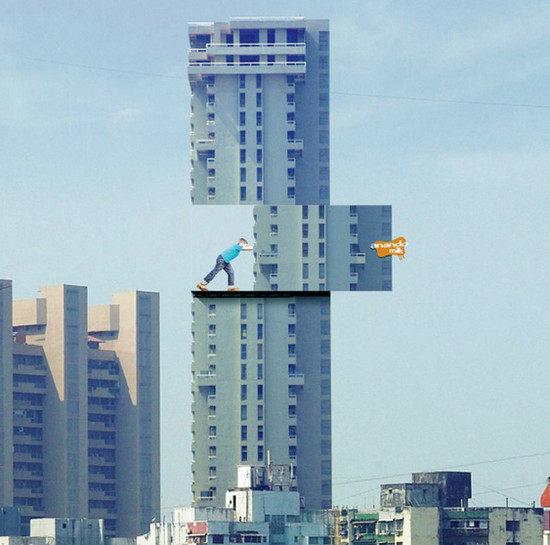 国外户外创意广告牌  户外广告户外广告设计户外广告贴图户外广告素材