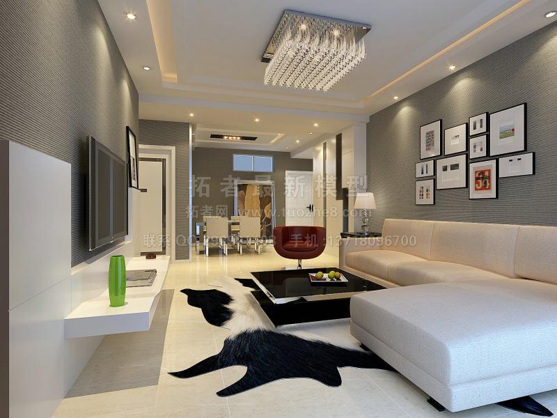 室内 cad图纸 cad全套施工图 现代公寓设计装修图