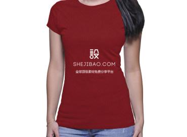 女士T恤样机