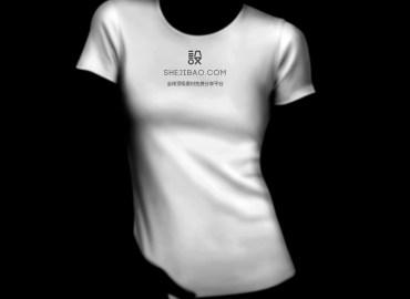 女士短袖T恤样机