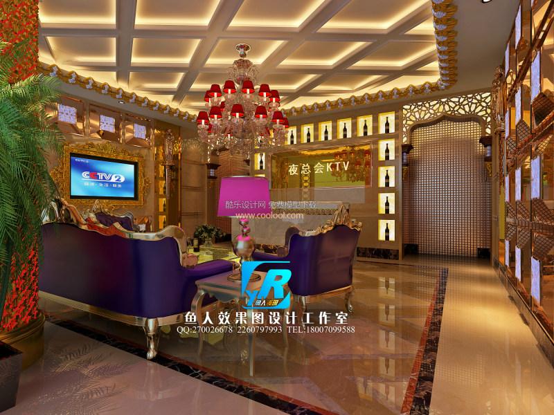 室内装潢设计贴图 素材 室内装饰 工装模型 餐饮娱乐 3d模型 会所 ktv