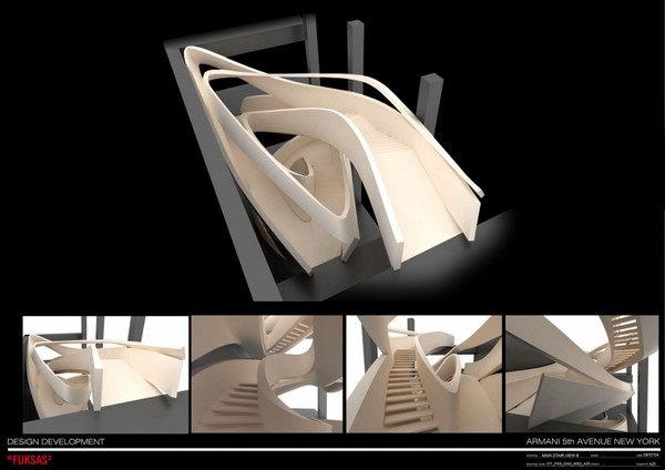 阿玛尼第五大道专卖店现代风格室内设计实景图
