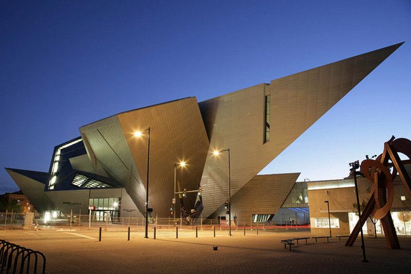 丹佛图纸博物馆扩建艺术室内设计实景图两杆房屋v图纸全套图片
