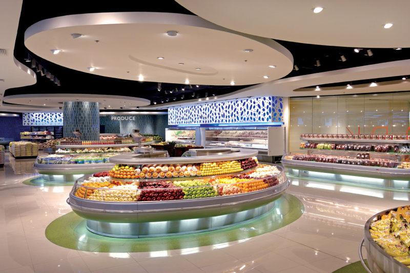 里程碑超市现代风格室内设计实景图