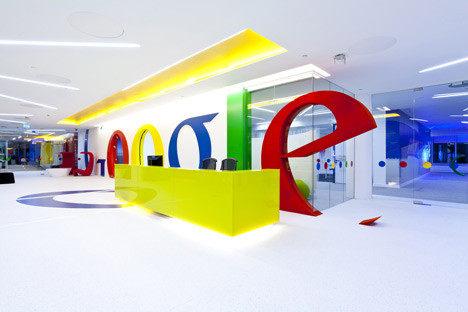 google 谷歌 室内办公空间设计实景图
