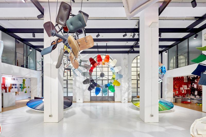 維特拉面料展現代風格室內設計實景圖