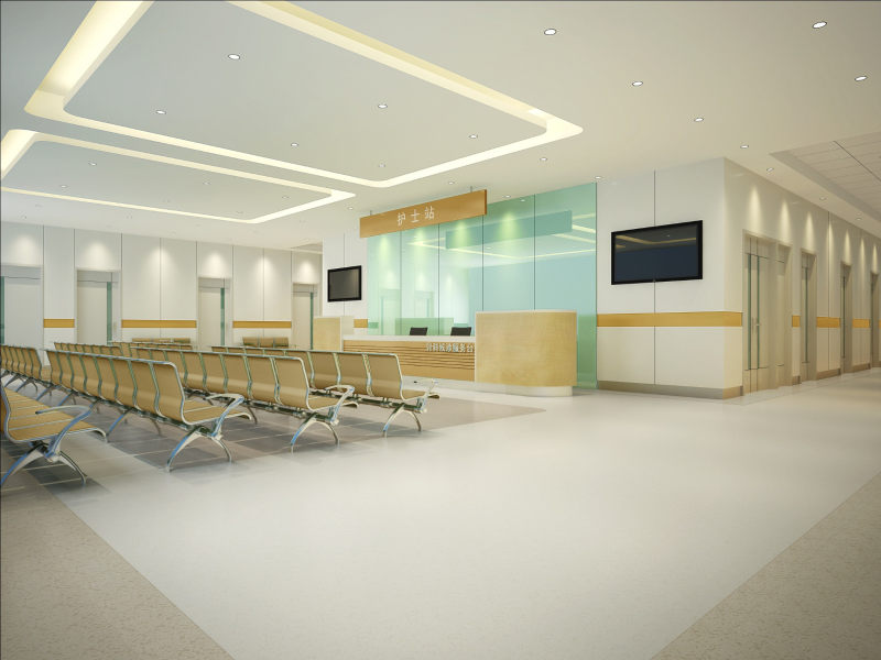 医院_简洁明快的医院室内设计方案实景图