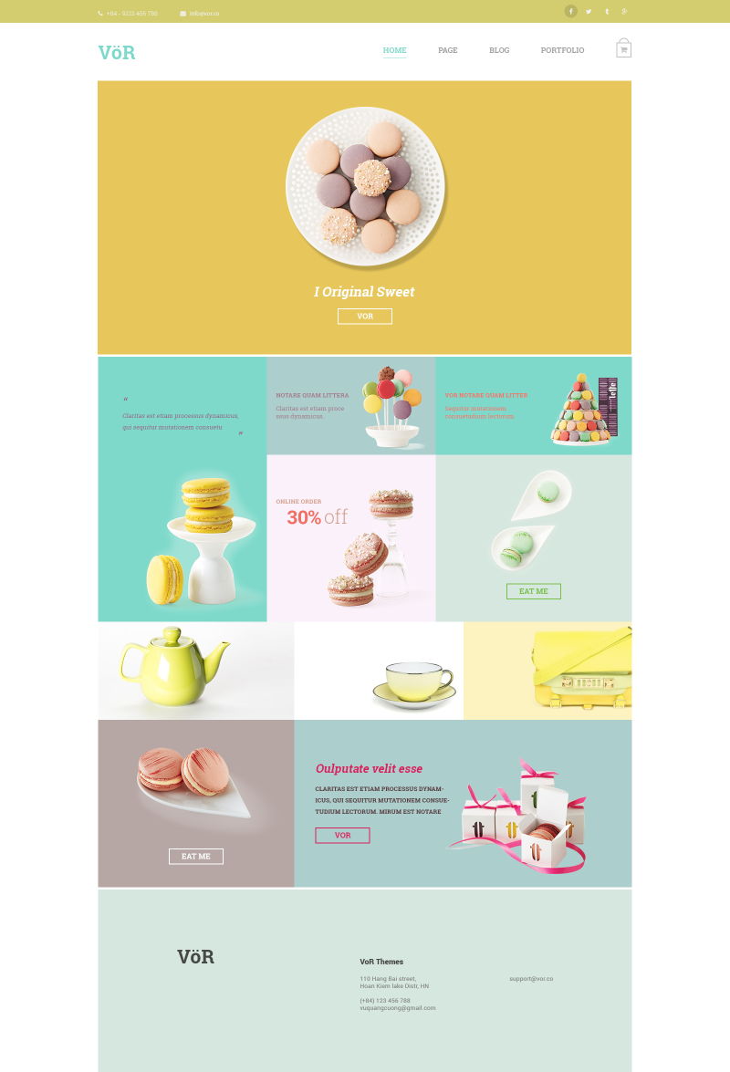 国外美食网页模板素材