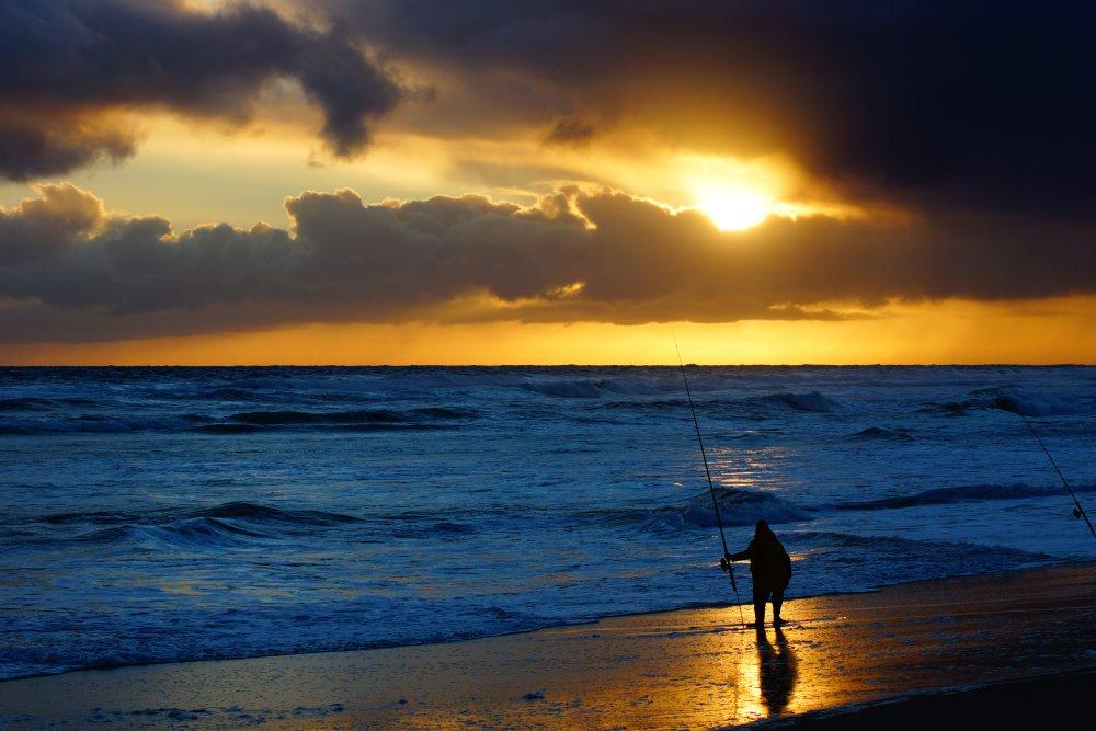 海边夕阳摄影图 高清背景图片 壁纸