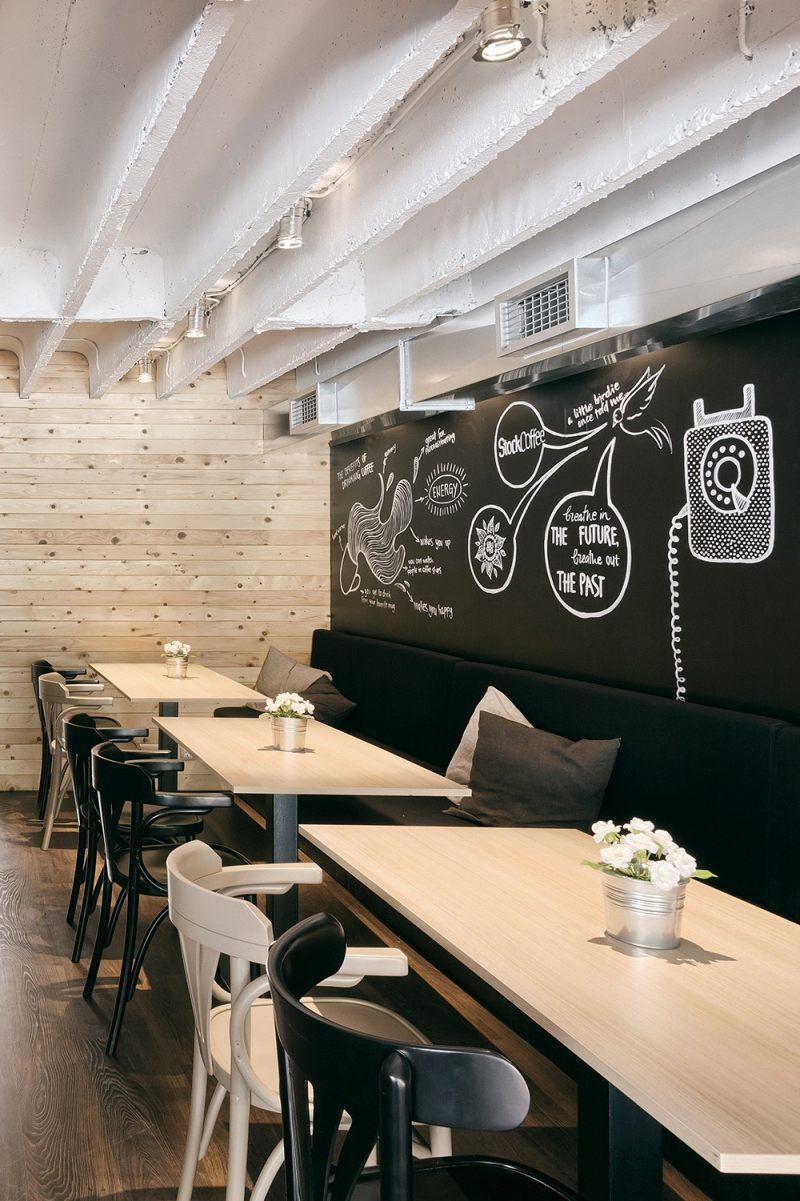工业风格塞尔维亚新鲜咖啡馆设计室内实景图