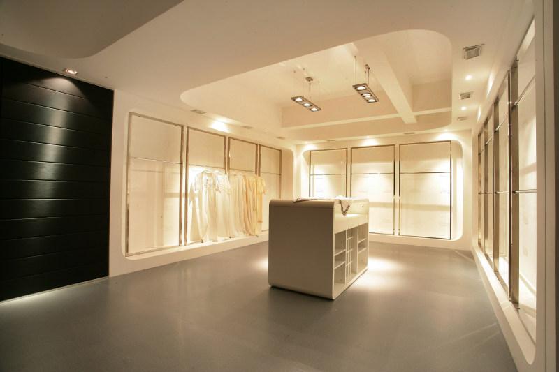 混搭风格天顺祥雪果服装展厅及办公室室内设计实景图