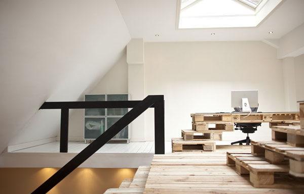 木头办公室 室内办公空间设计实景图