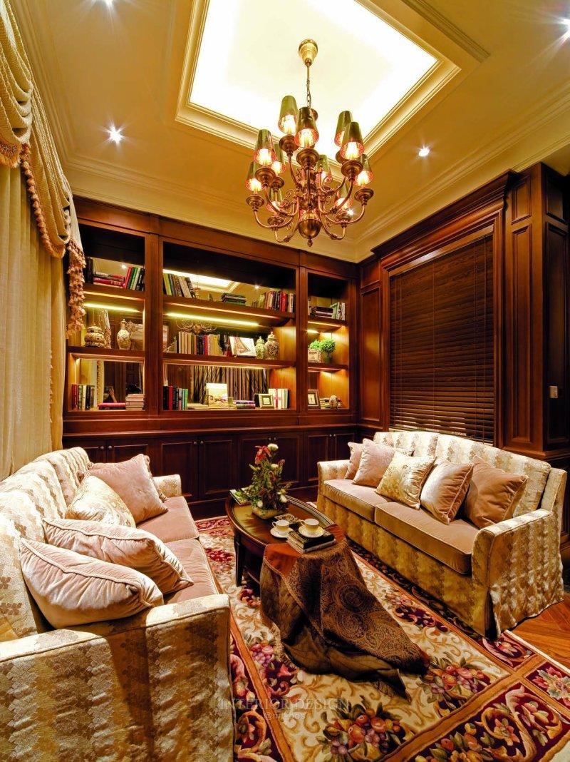 苏州九龙仓国宾一号别墅样板房美式风格室内住宅设计实景图