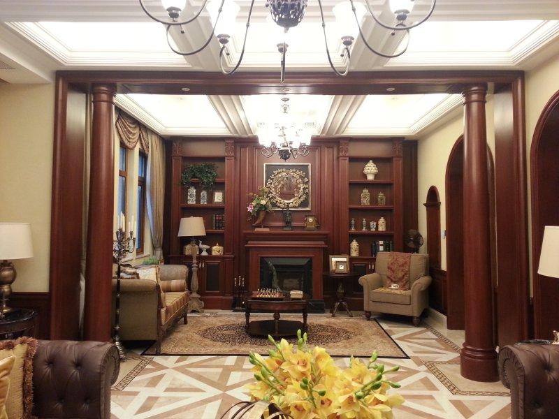住宅装修 美式风格 三盛国际公园样板房美式风格室内住宅设计实景图