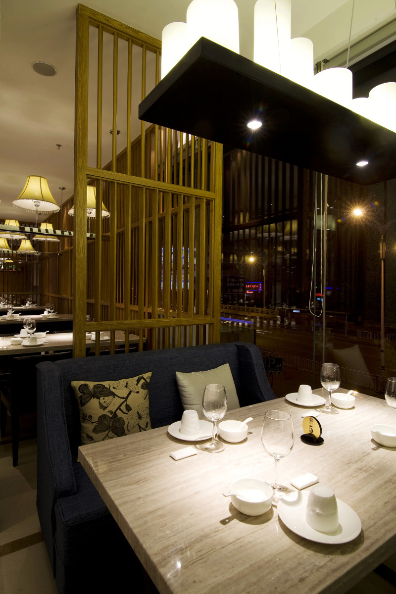 室内 餐饮会所类装修 混搭风格 镇江餐厅混搭风格室内设计实景图