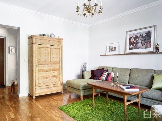 72.5平米墨绿森林公寓田园风格室内住宅设计实景图