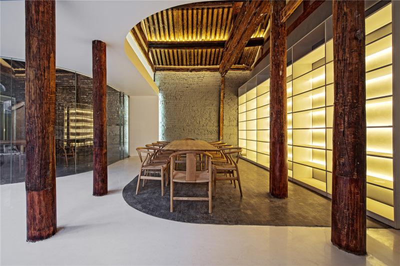 室内装潢设计 商业空间 店铺设计 展厅 休闲 空间结构 流线, 中式