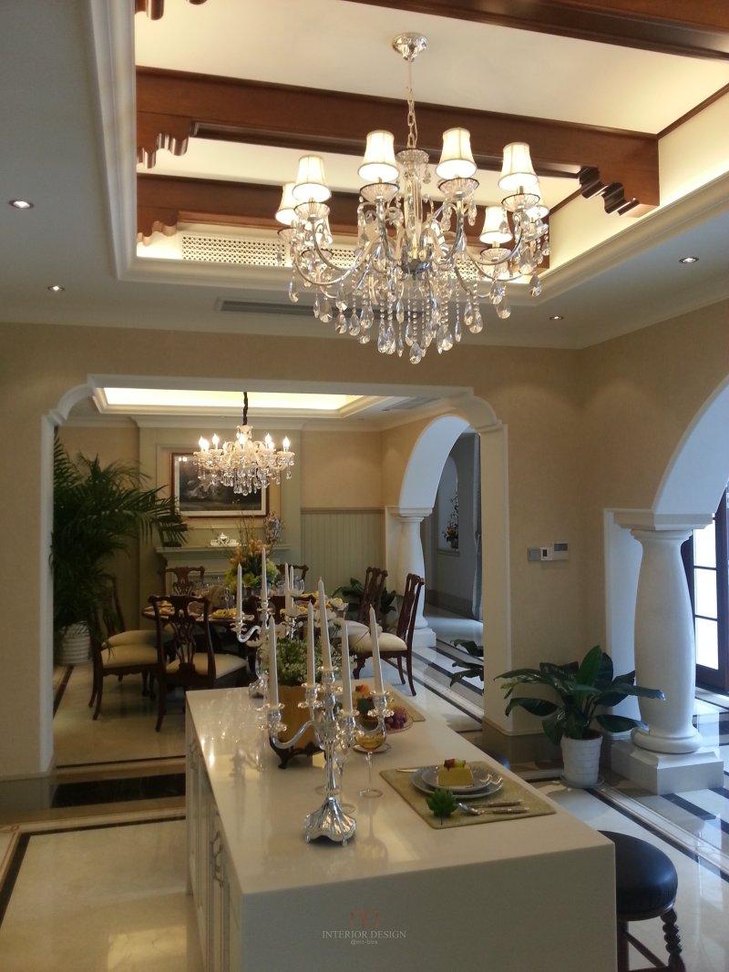 杭州绿城西子田园牧歌法式合院别墅室内住宅设计实景图