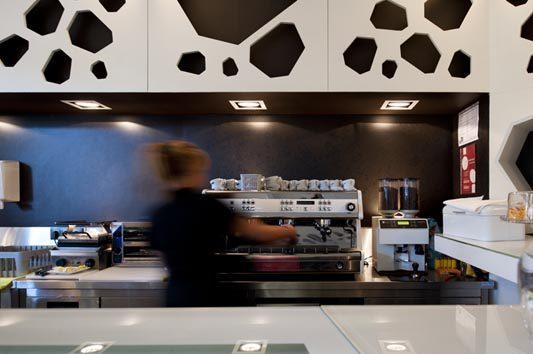 葡萄牙meltino咖啡馆现代风格室内设计实景图