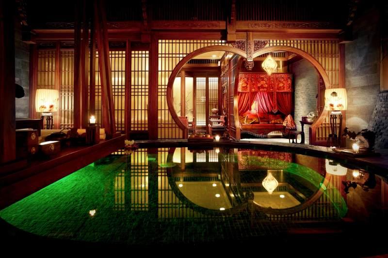 spa 美容院 中式 新中式 意境 禅意 空间感 自然 中式风格休闲娱乐图片