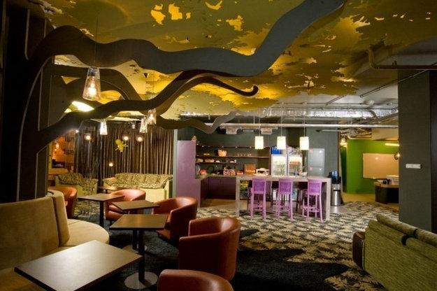 室内 办公空间装修 混搭风格 全球名企创意办公室办公空间设计实景图