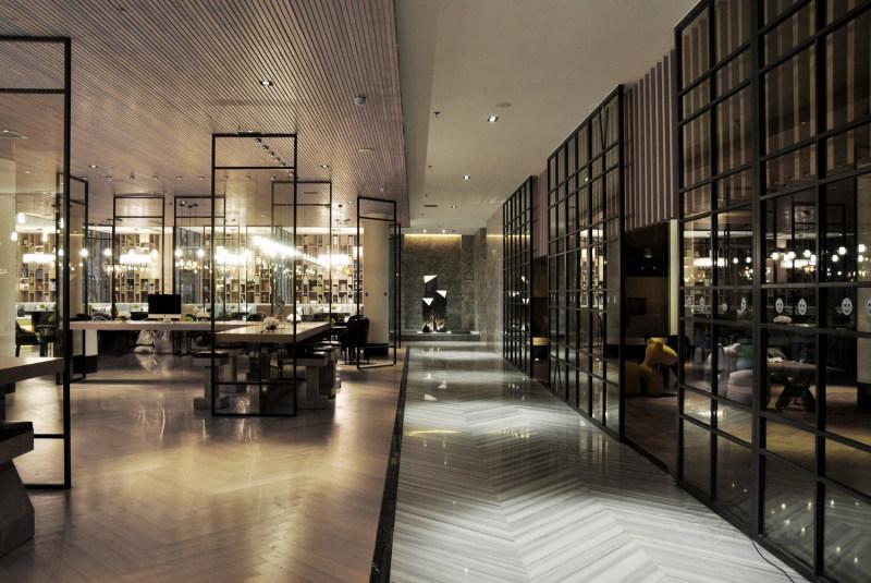 郑州万科销售中心中式风格展厅展览展示室内设计实景图