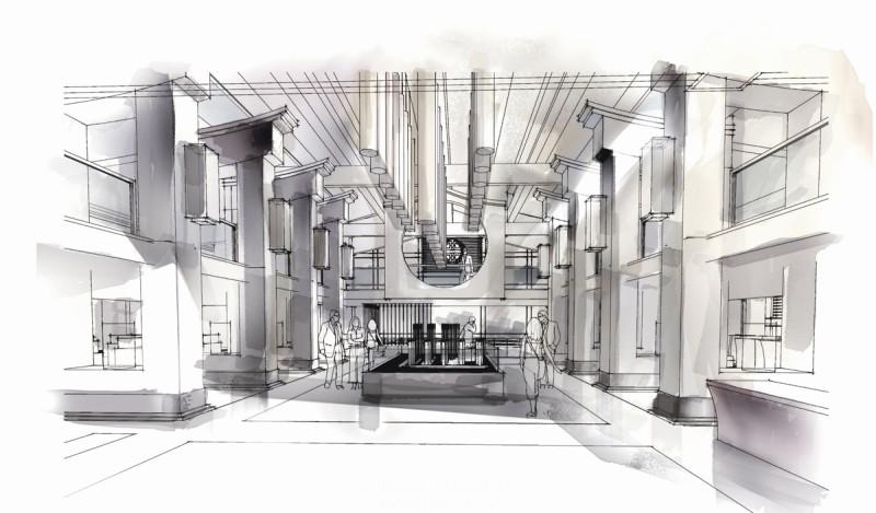 手绘会展空间设计