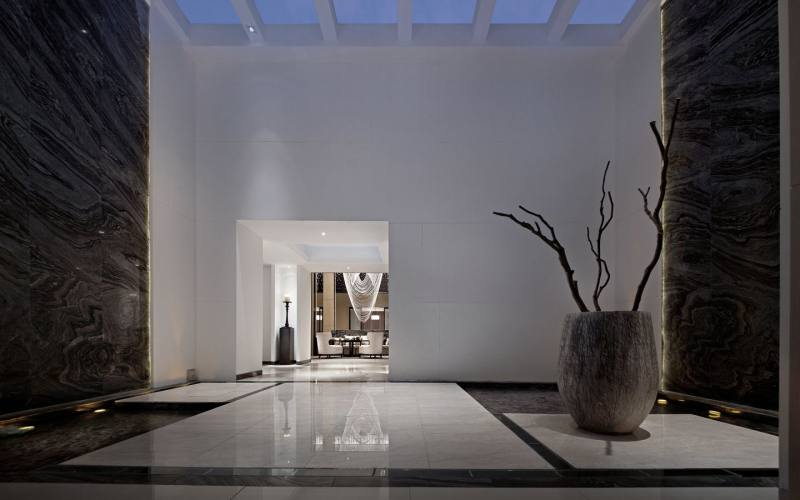 原创设计 室内装潢设计 展厅 公共空间 新中式 大气 庄重 禅意 空间