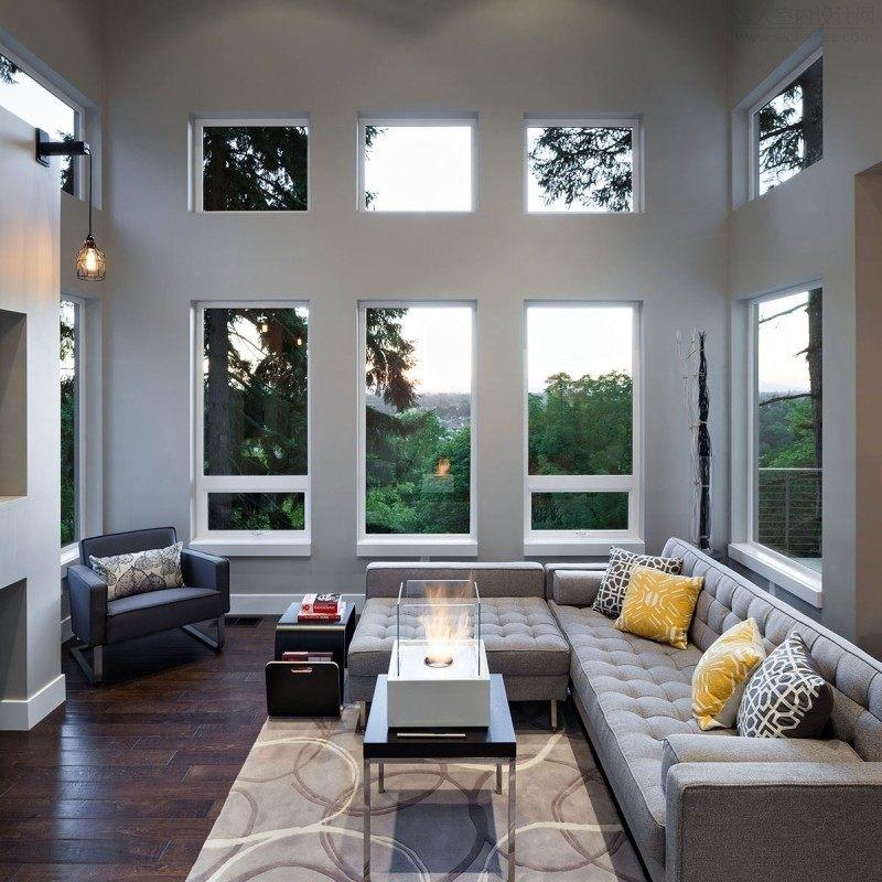美国俄勒冈州乡村气息现代住宅田园风格室内住宅设计实景图