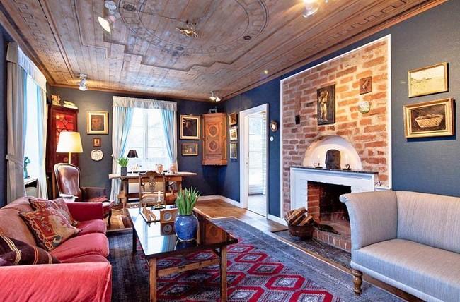 瑞典乡村风复古公寓田园风格室内住宅设计实景图