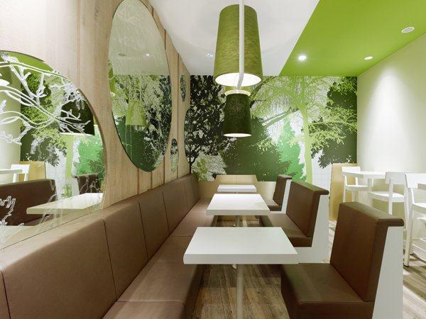 室内 餐饮会所类装修 现代风格 绿色清新的维也纳森林:wienerwald餐厅